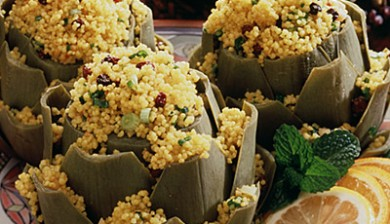 Couscous Stuffed Artichokes
