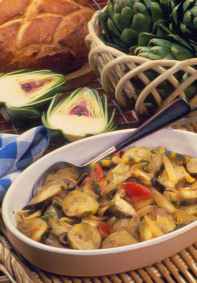 Artichoke/Vegetable Stir-Fry